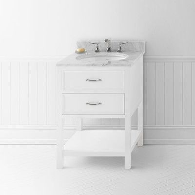 Pic On Newcastle Bathroom Vanity Cabinet Base in White