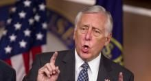 """When Does Obama's Plan Balance the Budget? Hoyer: 'I Don't Know'    House Minority Whip Steny Hoyer (D-Md.) said he does not know when President Barack Obama's plan for the fiscal cliff will balance the federal budget.    """"The President's proposition was that—on the revenue side—to balance the spending cuts we needed to raise additional revenues,"""""""