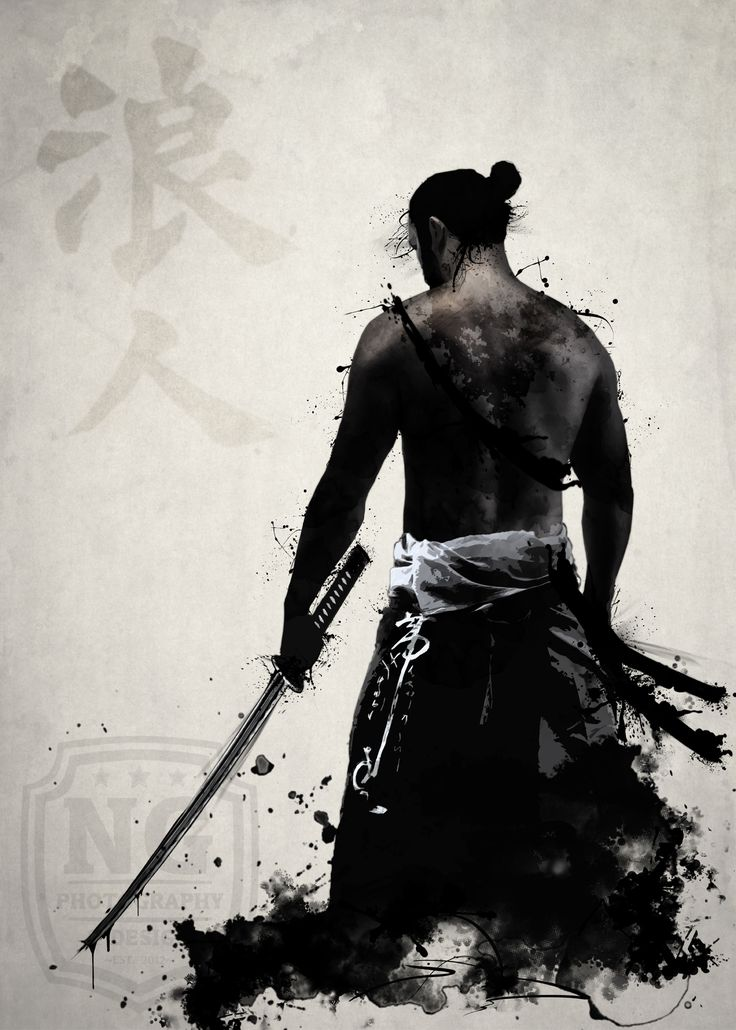Ronin Artprint by Nicklas Gustafsson #samurai #ronin #warrior