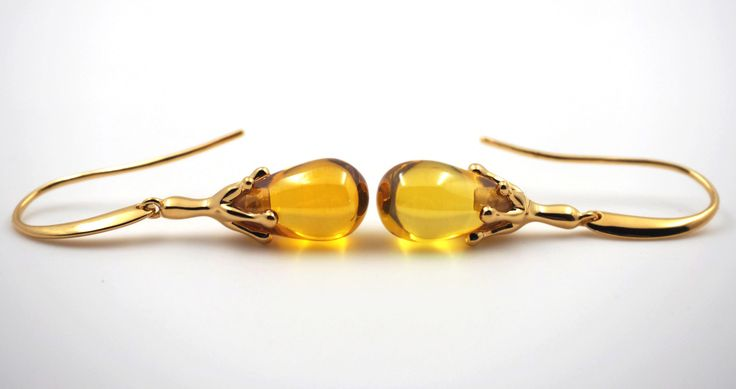 Mnemosyne Citrine earrings 14k gold plated 925 silver Fine jewelry earrings Drop earrings Pear earrings Handmade earrings Engagement earring - pinned by pin4etsy.com