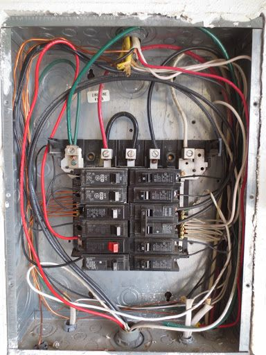 The service panel wiring for a new solar kit. Get your own DIY kit at www.ThatSolarGuy.com