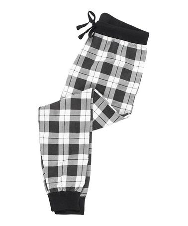 This Black & White Plaid Flannel Pajama Pants is perfect! #zulilyfinds