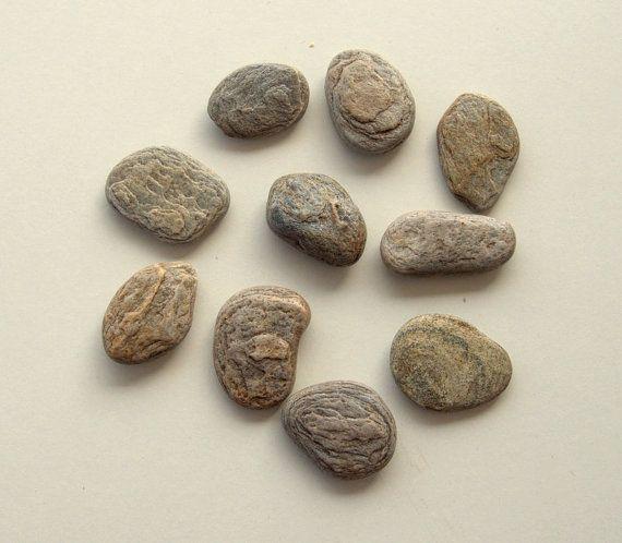 10 Grey Flat PebblesBeach StonesCraft by PebblesAndWoods on Etsy