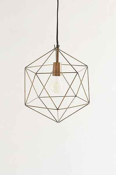 $69 Magical Thinking Geo Pendant - Urban Outfitters