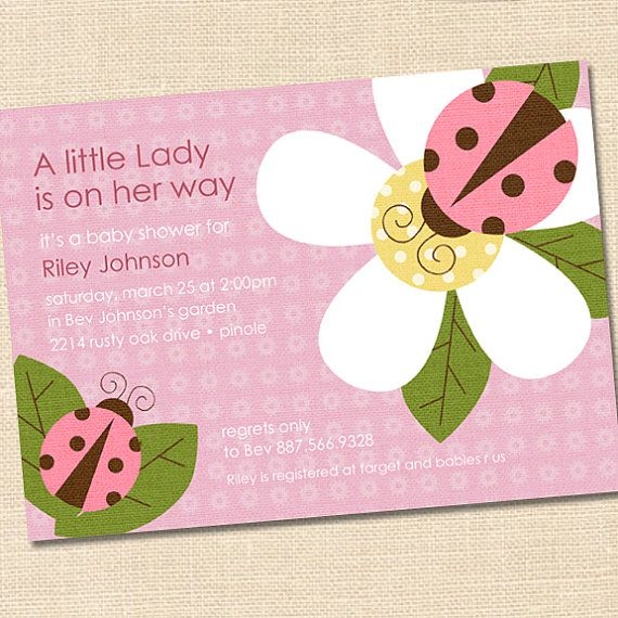 Little Ladybug Pink and Brown Baby Shower by partymonkey on Etsy, $15.00