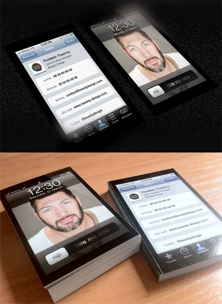 iPhone Business Card - Creative!