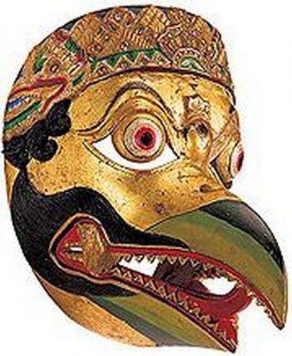 Maschera da teatro di Jatayu, Yogyakarta, Giava