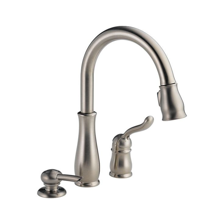 978 Sssd Dst Leland Single Handle Pull Down Kitchen Faucet With Soap Dispenser Kitchen