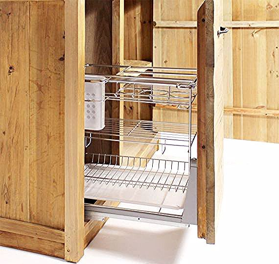 Meuble Cuisine 1 Porte 1 Etagere 1 Tiroir Coulissant Epices Champetre Made In Meubles In 2020 Kitchen Flatware Tray Home