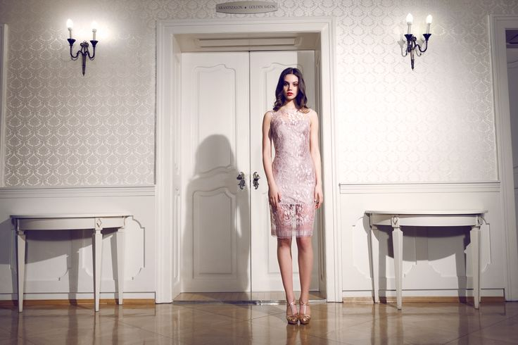 Daalarna Couture Short Pale Pink Evening Dress_Secret collection