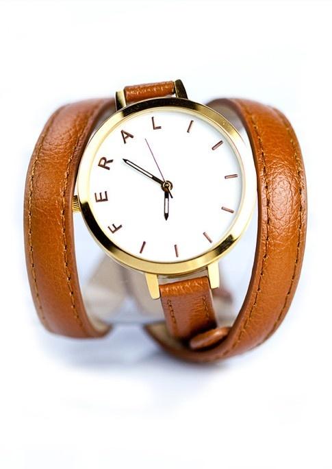 Wrap leather watch