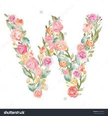 Image result for designing letters with flower designs W