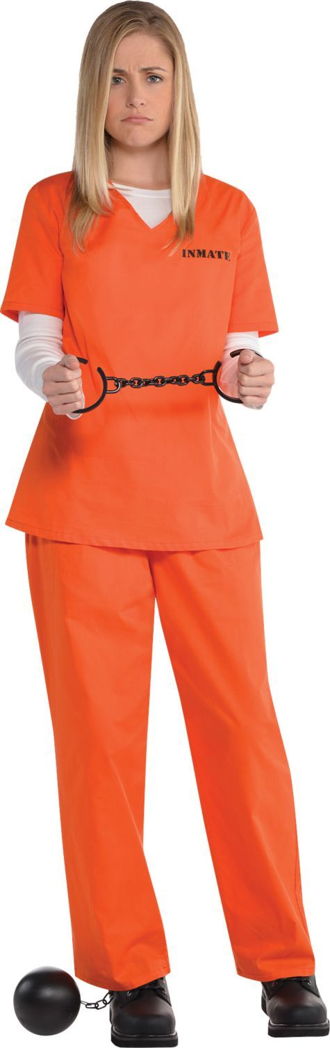 Adult Orange Prisoner Costume - Party City