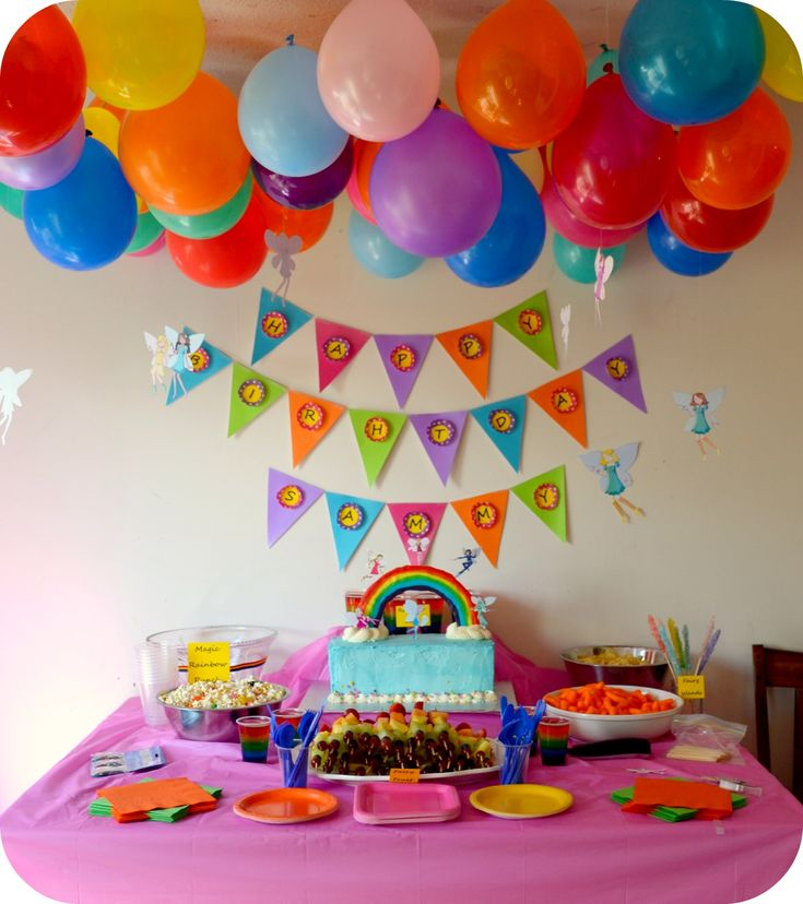 rainbow themed birthday party - Bing Images