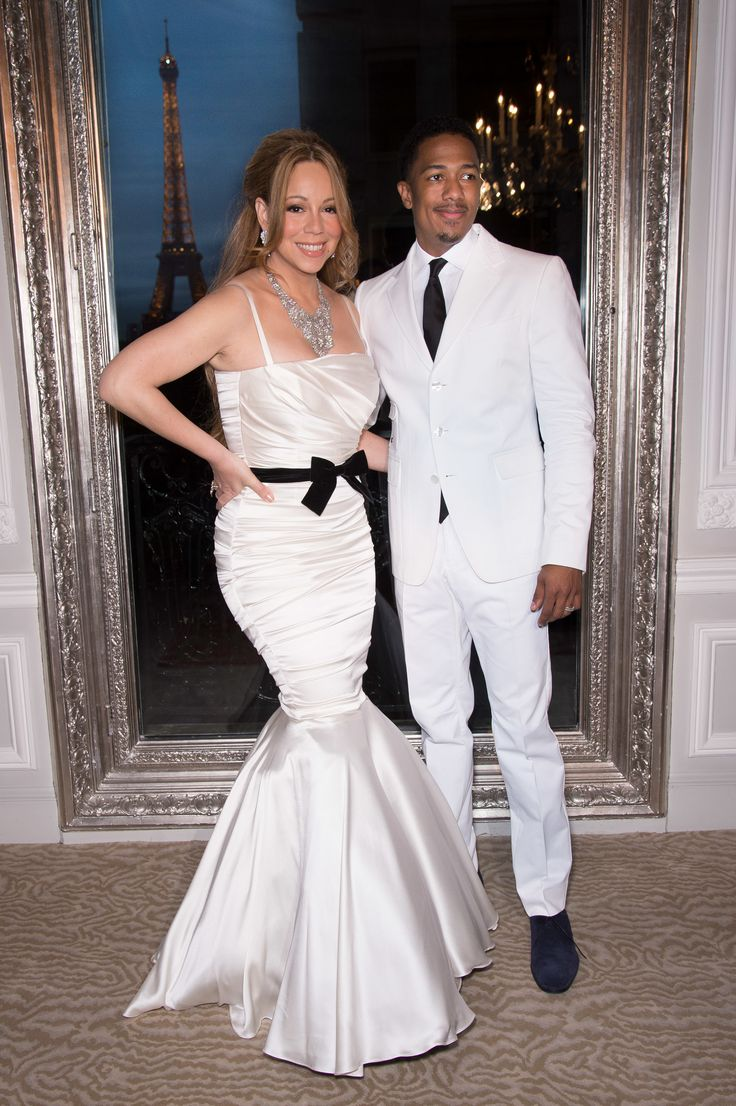 Mariah Carey and her husband Nick Cannon during the their vows renewal ceremony to celebrate their fourth year of marriage, in Paris (Photo by Stephane Cardinale/Corbis via Getty Images) via @AOL_Lifestyle Read more: https://www.aol.com/article/entertainment/2017/07/14/nick-cannon-broken-shattered-mariah-carey-breakup/23029928/?a_dgi=aolshare_pinterest#fullscreen