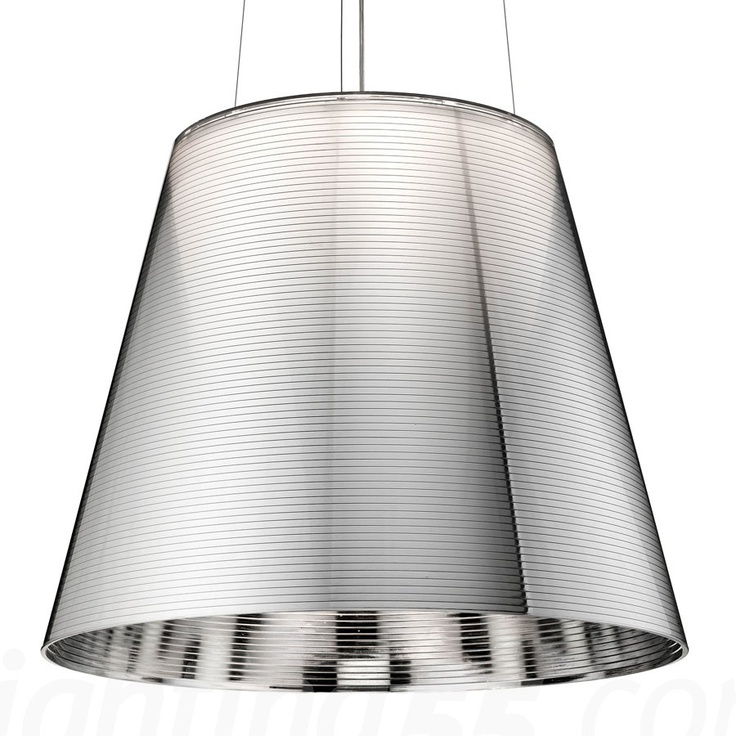 K-tribe aluminised silver - from Flos - suspension