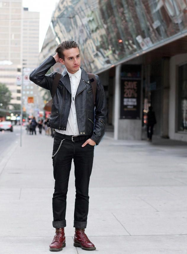 Dr. Martens Style jeans leather jacket tumblr streetstyle