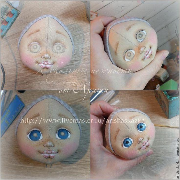 кукла ручной работы, расписываем личико кукле