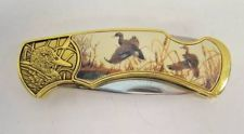 FRANKLIN MINT MALLARD DUCKS WILDLIFE COLLECTOR KNIFE RICK FIELDS LIMITED EDITION