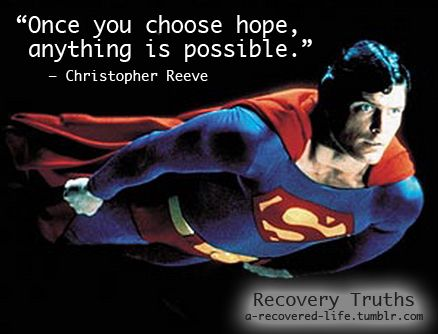 Christopher Reeve taught me this and many other things he truly was Superman