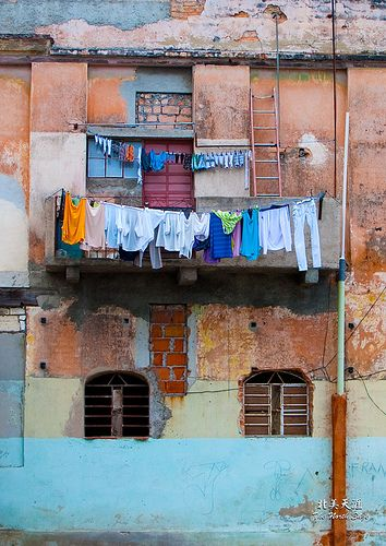 Wash Day in Cuba by Shan Liu