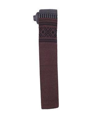 Ivy Prepster Men's Robinson Color Block Fair Isle Tie, Brown