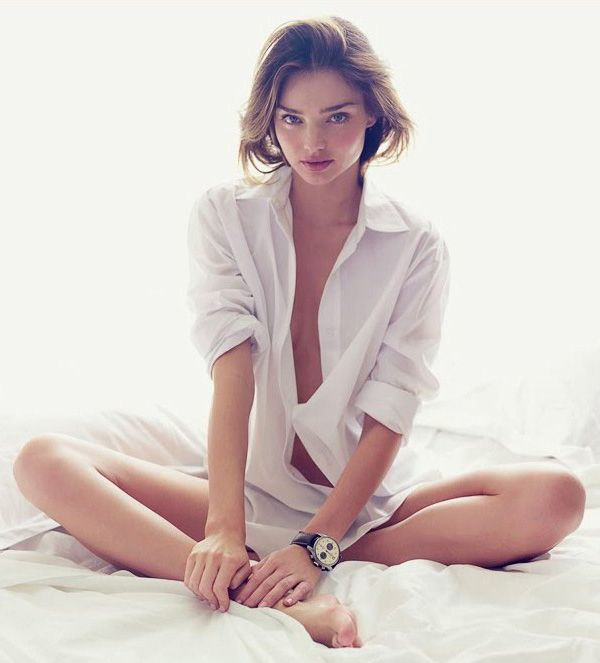 In a man's white shirt I always feel so very feminine. It must be the starch that does it.   http://chloethurlow.com/2013/12/women-want-bed/