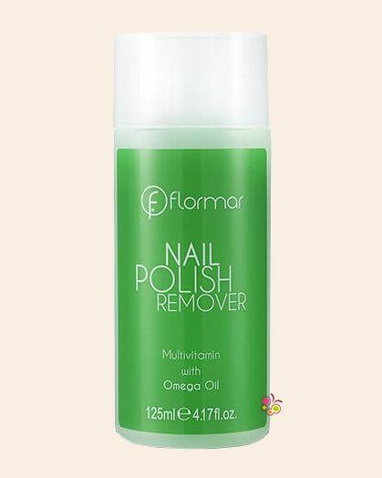 FLORMAR Nail Polish Remover Omega Yağı Özlü Yeşil Aseton 125 ml
