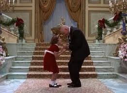 Alicia Morton as Annie and Victor Garber as Daddy Warbucks in the Disney 1999 Film.