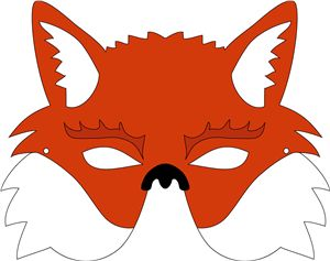 17 best images about farsang on pinterest pineapple for Fantastic mr fox mask template