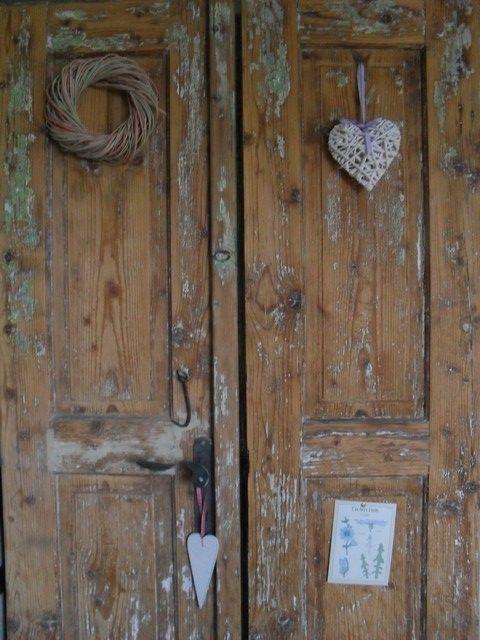 old vintage wooden doors