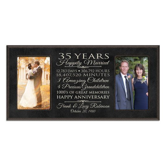 Personalized 35th Anniversary Gift For Him 35 Year Wedding Her Special Date To Remember Important Dates