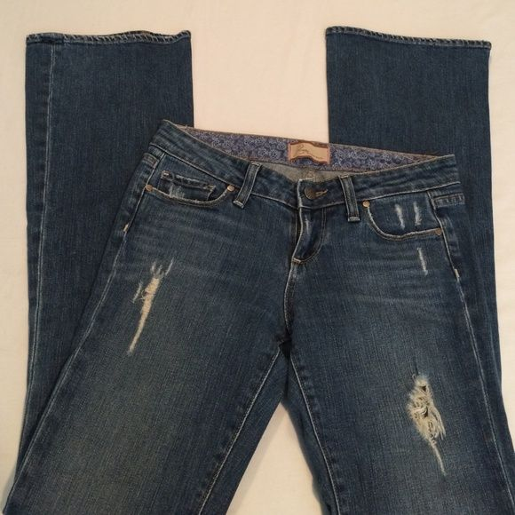 "Paige Distressed & Destroyed Jeans⚡️Sale⚡️ Sz 26X33 Amazing Jeans. Factory Distressed. Rise is 8"" and bottom cuff opening is 9""across. Excellent shape Paige Jeans Jeans"