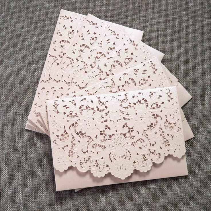 invitaciones finas tarjetas encajes bodas panamá corte laser flores en relieve