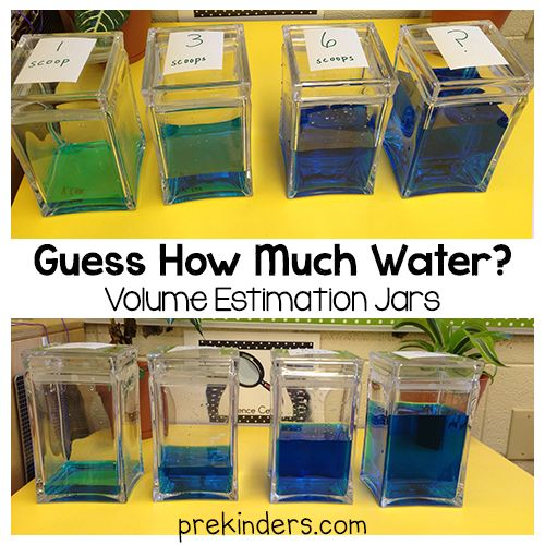 """Guess How Much Water?"" Estimation Jars (from PreKinders)"