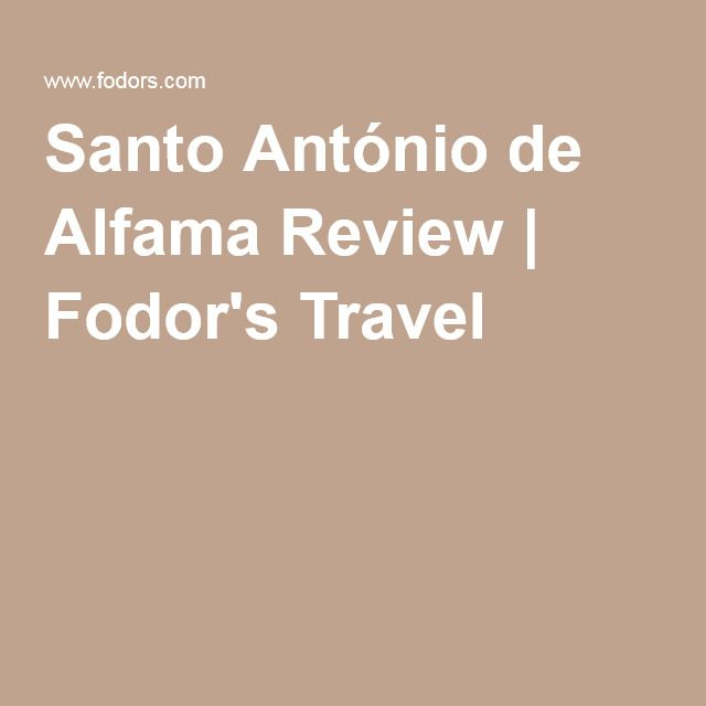 Santo António de Alfama Review | Fodor's Travel