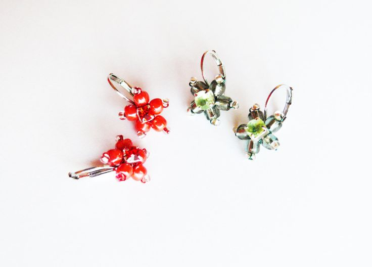 Flower earrings by ARTinsSK on Etsy