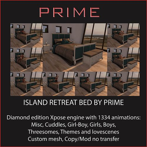 Island Retreat Diamond bed by PRIME