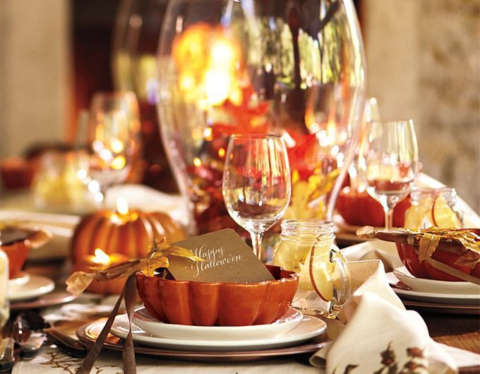 Best Pottery Barn Fall And Halloween Images On Pinterest - Colorfulfall table decoration halloween party decorations thanksgiving table centerpieces