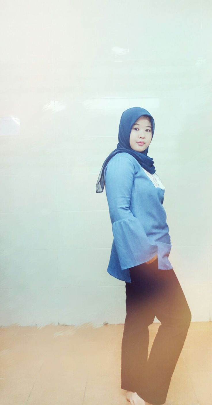 Style of the day... Blue denim  #workingstyle #denim #HOTD  #HijabIndonesia