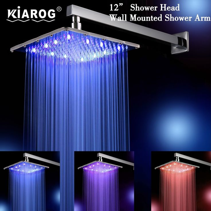 72.00$  Watch here - http://alixvv.shopchina.info/1/go.php?t=32347609845 - 12 Inch Rain Led Shower Head With Wall Mount Or Ceiling Mounted Shower Arm.Bathroom 30cm*30cm Led Showerhead.Led Chuveiro Ducha 72.00$ #magazineonlinebeautiful