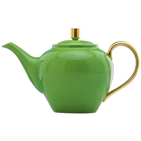 Lenox Greenwich Grove Teapot ($120) ❤ liked on Polyvore featuring home, kitchen & dining, teapots, modern teapot, green teapot, tea-pot, green tea pot and lenox tea pot