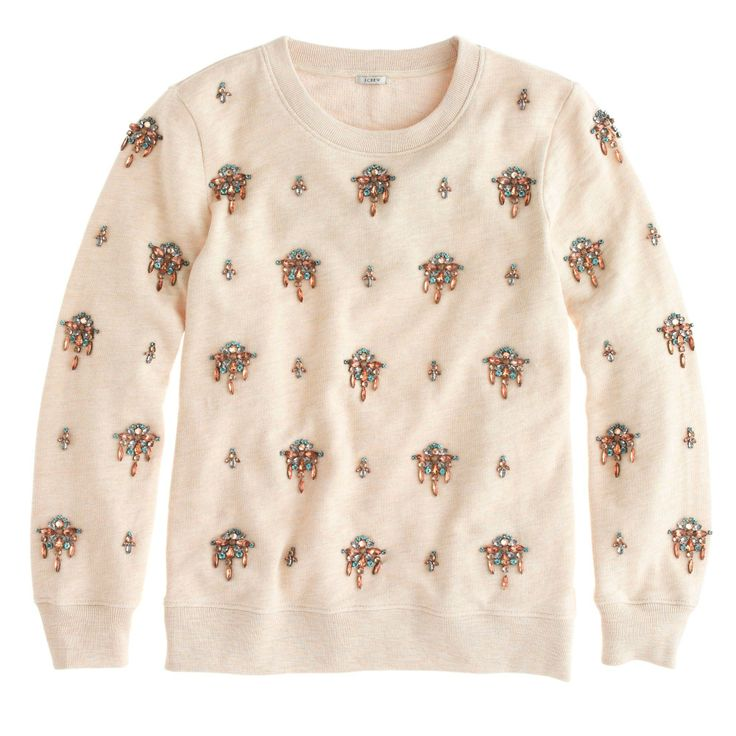 Love this embellished sweater!