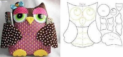 Excelentes Ideas con Patrones para Elaborar Figuras de Búhos
