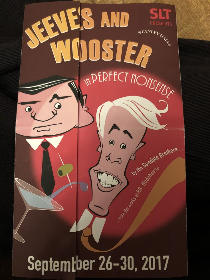 Jeeves and Wooster in Perfect Nonsense at Stanley Halls, 30/Sep/2017