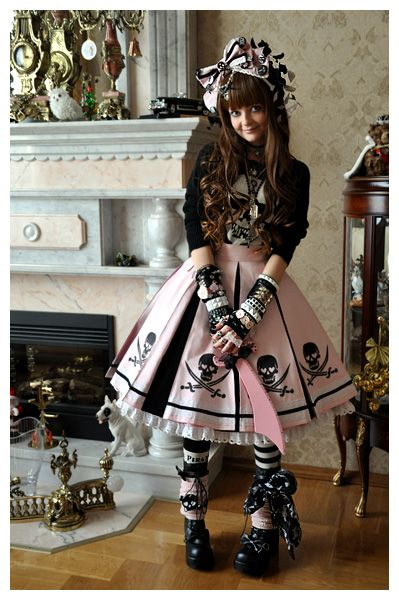 I like her socks, could do with lace or something else? - pirate lolita