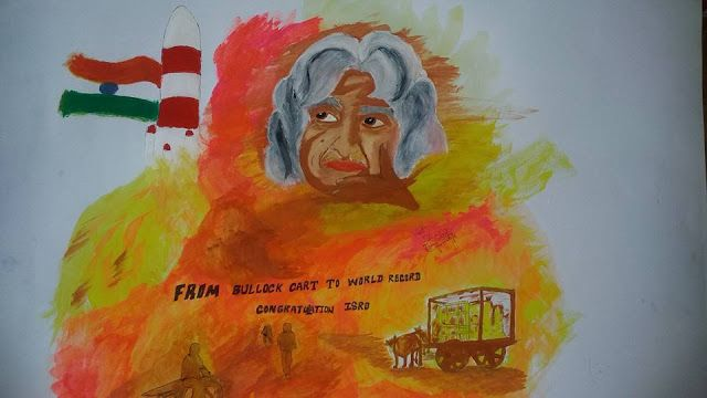 mema: MY 2ND painting... on the occasion isro's WORLD re...