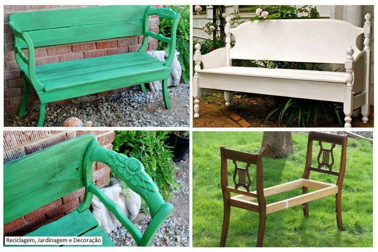 diy garden bench from chairs