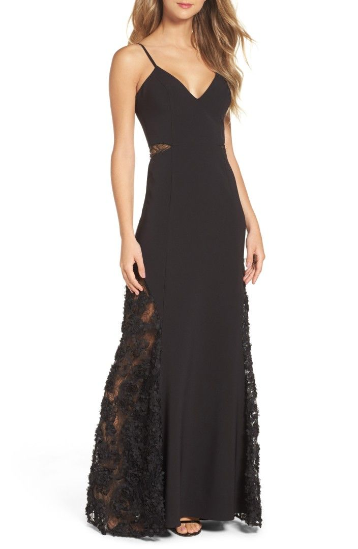 Shannon Lace Inset Gown MARIA BIANCA NERO $496.00