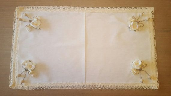 Handmade beautiful tablecloth 40cm/70cm by WhispersofAngels17